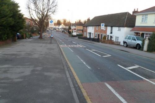 St Marys Lane cycle lanes