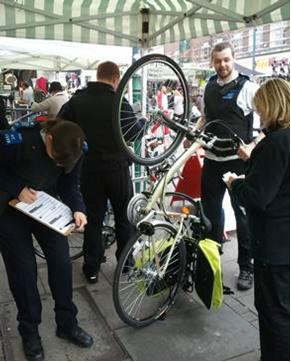 police bike marking